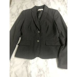 $210 CALVIN KLEIN WOMEN'S GREY BLAZER JACKET 4